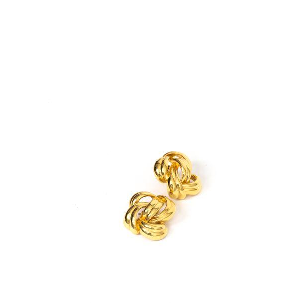 Brinco-de-Pressao-Givenchy-Entrelacado-Dourado