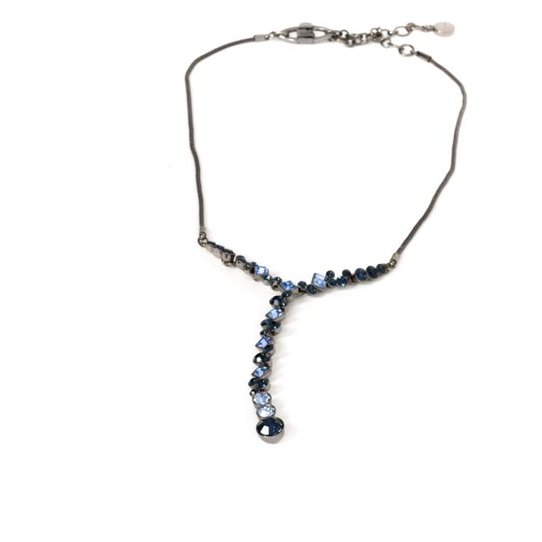 Conjunto-Colar-e-Brinco-Givenchy-Negro-e-Pedras-Azuis