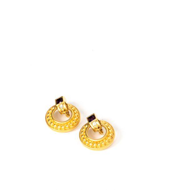 Brinco-Givenchy-Pedra-Vinho-Dourado-Vintage