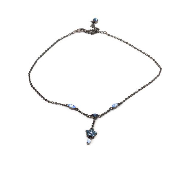 Colar-Givenchy-Negro-Flor-Pedra-Azul