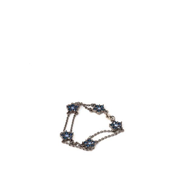 Pulseira-Givenchy-Negro-Flor-Pedra-Azul