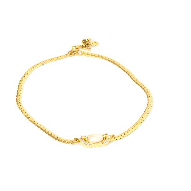 Colar-Christian-Dior-Perola-Corrente-Dourada