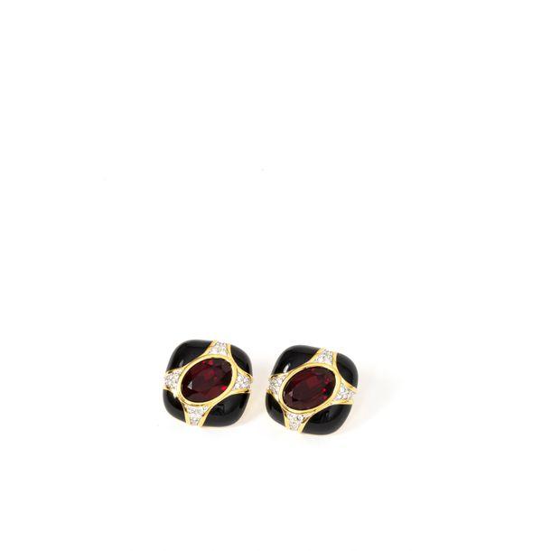 Brinco-de-Pressao-Swarovski-Pedra-Vermelha-Strass-e-Esmaltado