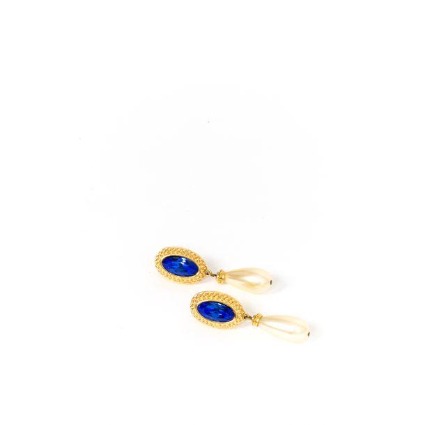 Brinco-Swarovski-Pedra-Azul-e-Perola