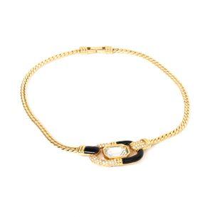 Colar-Swarovski-Esmaltado-e-Cristal-Corrente-Dourada