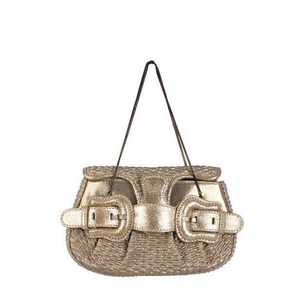 Mini-Bolsa-Fendi-Couro-Dourada