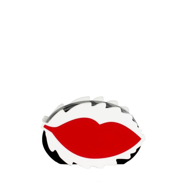Clutch-Red-Valentino-Acrilico-Preta