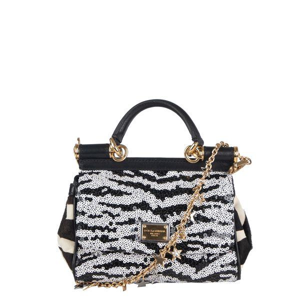 Bolsa-Tiracolo-Dolce---Gabbana-Paetes-Preto