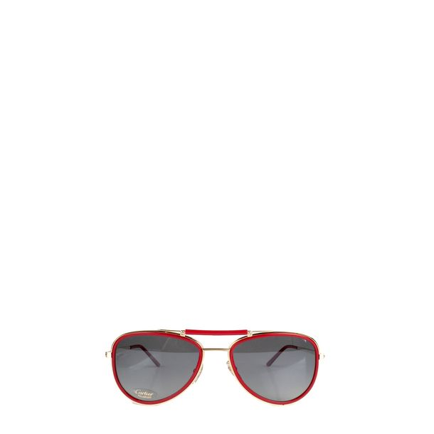 Oculos-Cartier-Acrilico-Vermelho-Marrom