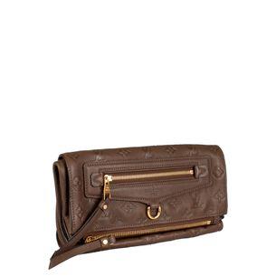Clutch-Louis-Vuitton-Couro-Marrom