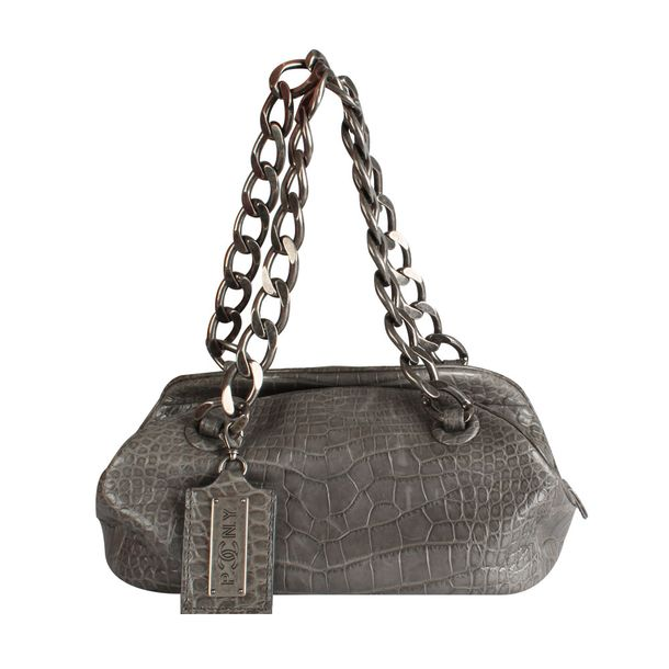 Bolsa-Chanel-Reptil-Cinza