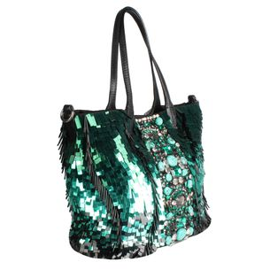 Bolsa-Tote-Valentino-Laminado-Pedras-Verde