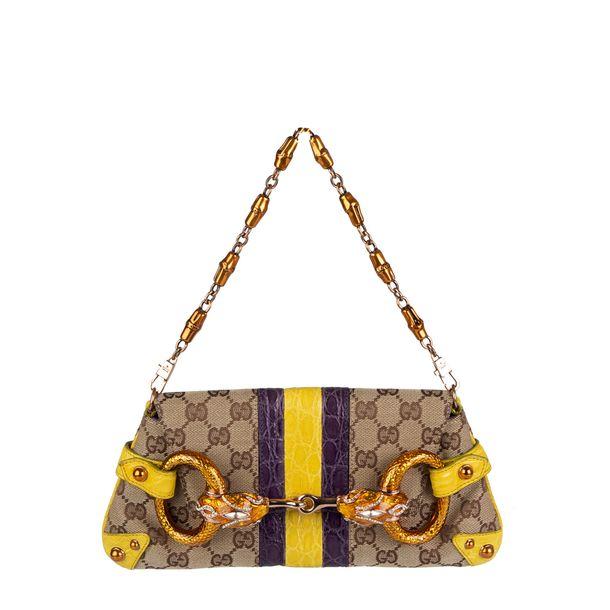 Bolsa-Gucci-Croco-Cinza-Roxo-e-Amarelo