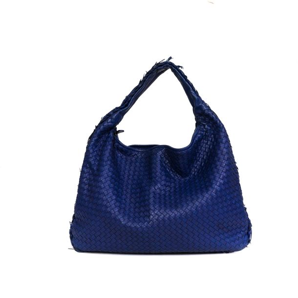 Bolsa-Bottega-Veneta-Hobo-Intrecciato-Azul