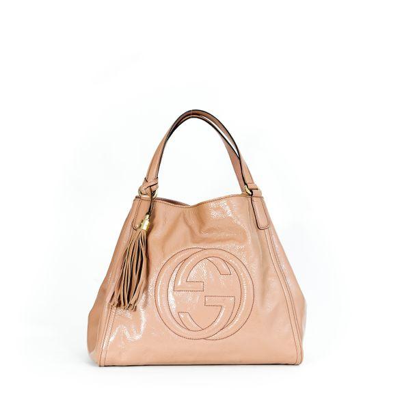 Bolsa-Gucci-Soho-Shoulder-Verniz-Rose