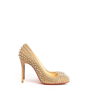62542-Pump-Christian-Louboutin-Bege-Spikes