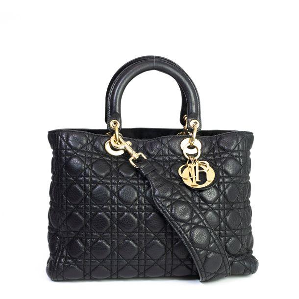 Bolsa-Christian-Dior-Lady-Dior-Couro-Preto