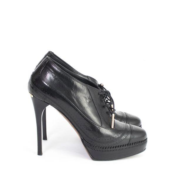 Ankle-Boot-Burberry-Couro-Preto