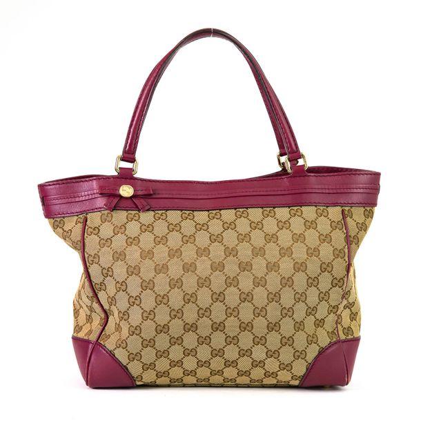 Bolsa-Gucci-Jacquard-Couro-Rosa