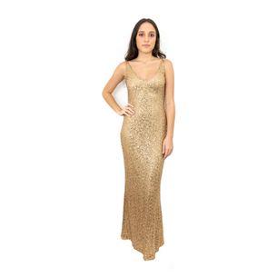 Vestido-Longo-Ralph-Lauren-Dourado