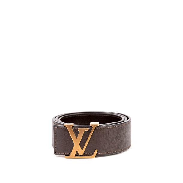 Cinto-Louis-Vuitton-Couro-Marrom-com-Rose
