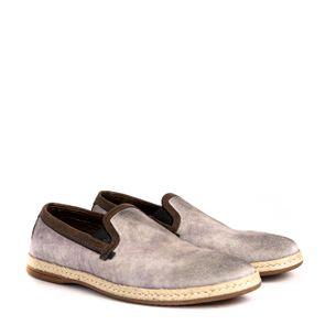 Slipper-Dolce---Gabbana-Camurca-e-Palha-Cinza