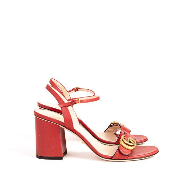 Sandalia-Gucci-Marmont-Couro-Vermelho