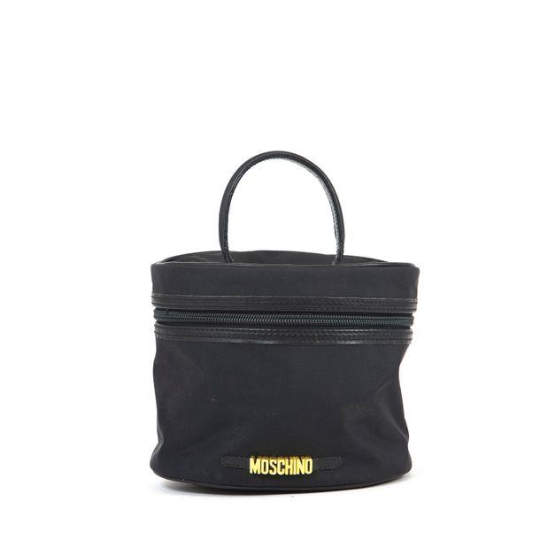 Mini-Bolsa-Necessaire-Moschino-Nylon-Preto