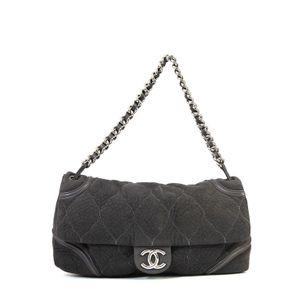 Bolsa-Chanel-Tecido-Cinza