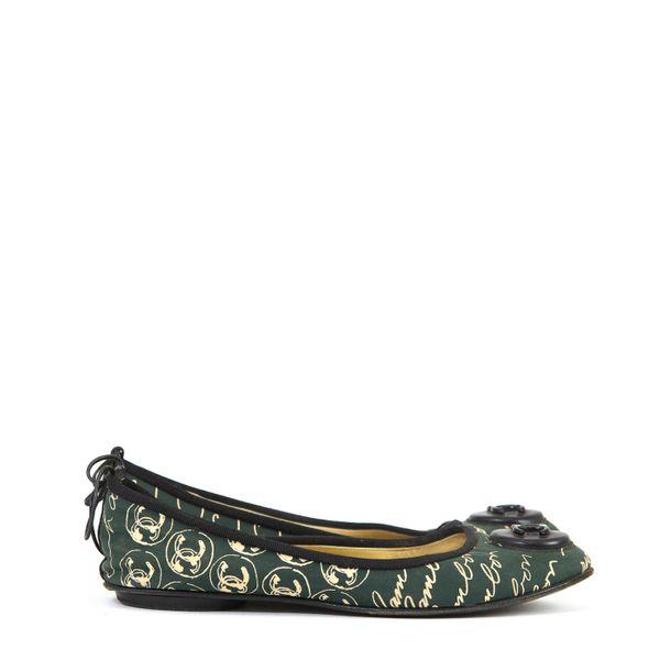 Sapatilha-Chanel-Escritos-Verde