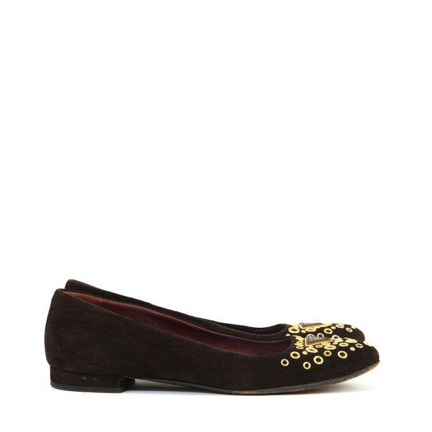 Sapato-Prada-Marrom-Ilhos