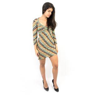 Vestido-Missoni-Descotado-Verde-e-Laranja