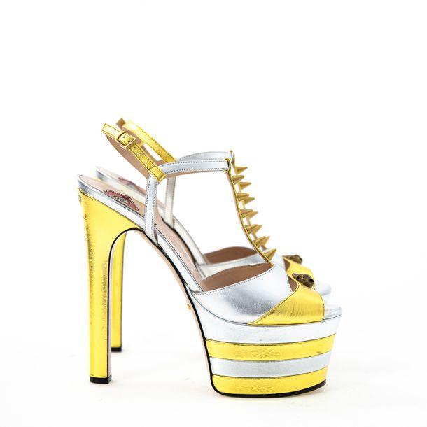 Sandalia-Gucci-Angel-Prateada-e-Dourada