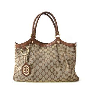 Bolsa-Gucci-Jacquard-Couro-Marrom