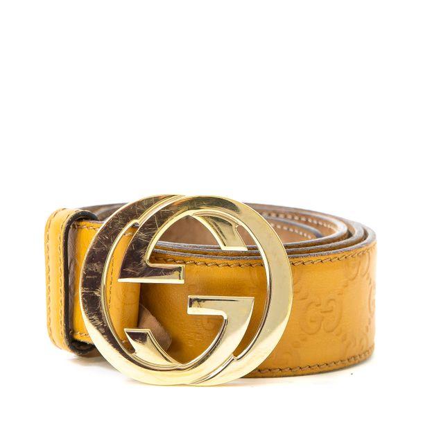 Cinto-Gucci-Guccissima-Amarelo