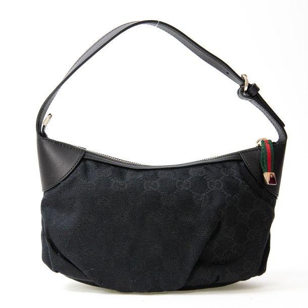 Mini-Bolsa-Gucci-Jacquard-Preto