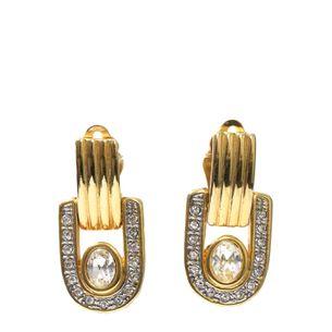 Brinco-de-Pressao-Vintage-Elo-Dourado-e-Strass