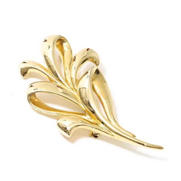 Broche-Flor-Dourado-Vintage