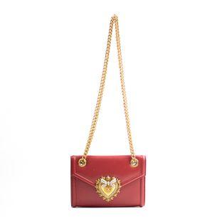 Bolsa-Dolce---Gabbana-Devotion-Couro-Vermelho