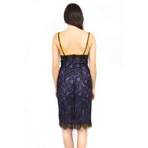 Vestido-Dolce---Gabbana-Renda-Preta-com-Roxo-e-Laranja