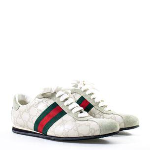 Tenis-Gucci-Guccissima-Cinza