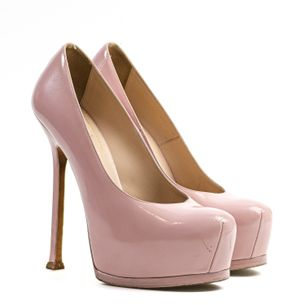 Pump-Saint-Laurent-Verniz-Rose