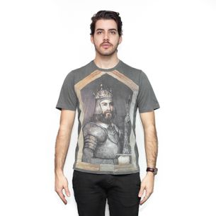 Camiseta-Dolce---Gabbana-Cinza-Estampada