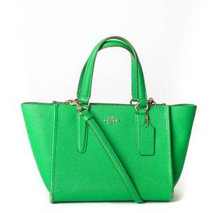 Bolsa-Coach-Couro-Verde