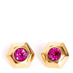 61960-Brinco-Swarovski-Pedra-Rosa-e-Dourado-Vintage-1