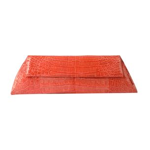 Clutch-Nancy-Gonzales-Envelope-Croco-Coral