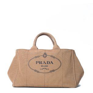 Bolsa-Prada-Canapa-Logo-Bege