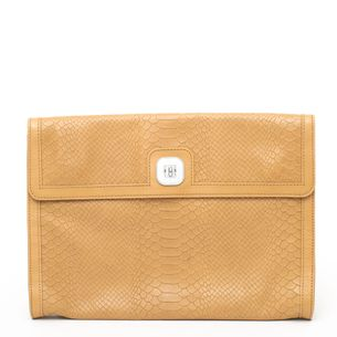Clutch-Longchamp-Caramelo