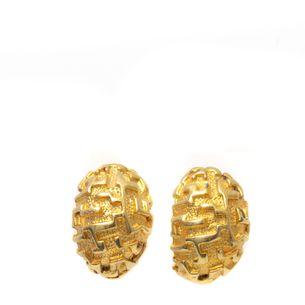 Brinco-Vintage-Dourado-Oval