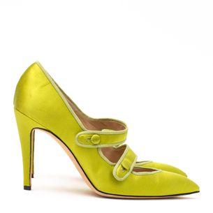 Sapato-Manolo-Blahnik-Cetim-Verde